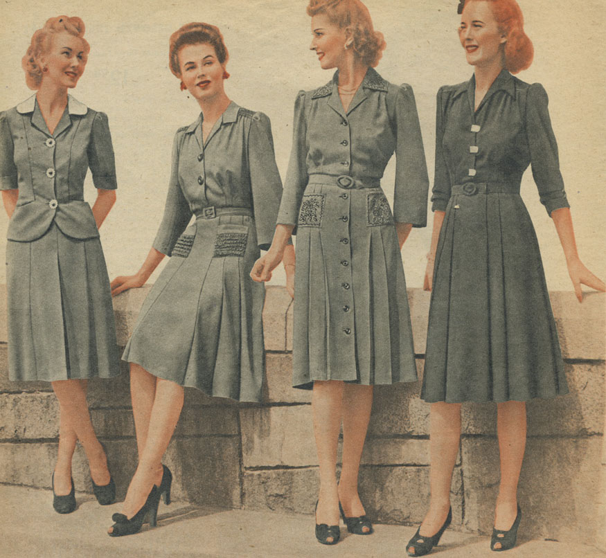 Vintage clothing of the 40s