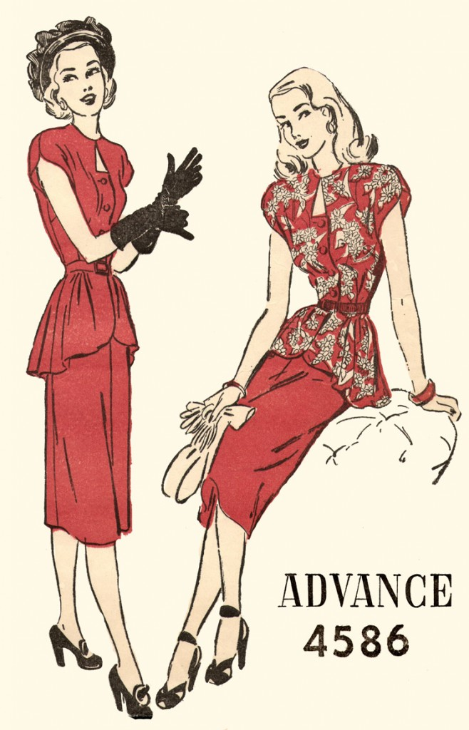 Advance_4586_wiki 658x1024 how to date women's vintage fashion from the 1940s,Womens Clothing 1940s